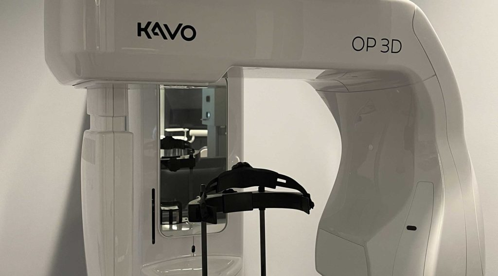 Our Kavo OP 3D digital scanner eliminates X-Rays